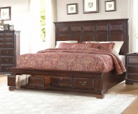 Homelegance Cranfills Cherry King Bed Available Online in Dallas Fort Worth Texas