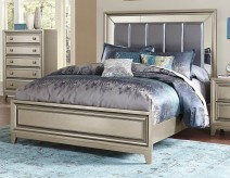 Homelegance Hedy Silver Queen Bed Available Online in Dallas Fort Worth Texas