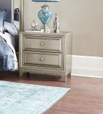 Homelegance Hedy Silver Night Stand Available Online in Dallas Fort Worth Texas