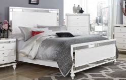 Alonza Bright White King Bed Available Online in Dallas Fort Worth Texas