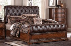 Homelegance Brompton Lane Dark Brown Queen Sleigh Bed Available Online in Dallas Fort Worth Texas