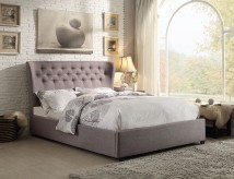 Wade Grey King Wing Bed Available Online in Dallas Fort Worth Texas
