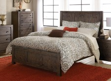 Homelegance Ferrin Dark Rustic Pine Queen Bed Available Online in Dallas Fort Worth Texas