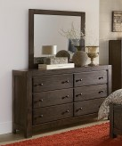Homelegance Ferrin Dark Rustic Pine Mirror Available Online in Dallas Fort Worth Texas