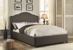 Zaira Dark Grey Queen Bed Available Online in Dallas Fort Worth Texas