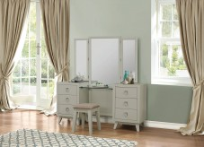Homelegance Valpico Cool Grey/Olive Vanity Dresser with Mirror Available Online in Dallas Fort Worth Texas