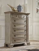 Orleans II Antiqued White Chest Available Online in Dallas Fort Worth Texas