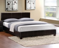 Zoey Dark Brown Queen Platform Bed Available Online in Dallas Fort Worth Texas