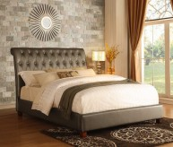 Homelegance Josie Pearl Grey King Sleigh Bed Available Online in Dallas Fort Worth Texas