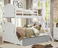 Homelegance Clementine White Twin/Full Bunk Bed Available Online in Dallas Fort Worth Texas