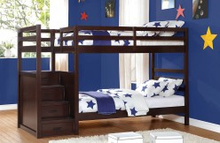 Homelegance Atlas Dark Cherry Bunk Bed Available Online in Dallas Fort Worth Texas