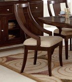 Homelegance Aubriella Cherry Arm Chair Available Online in Dallas Fort Worth Texas