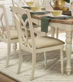 Homelegance Azalea Antique White Side Chair Available Online in Dallas Fort Worth Texas