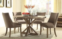 Homelegance Beaugrand Brown Round Dining Table Available Online in Dallas Fort Worth Texas
