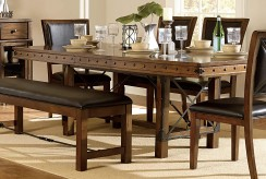 Homelegance Urbana Burnished Brown Dining Table Available Online in Dallas Fort Worth Texas