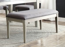 Homelegance Mendel Grey Bench Available Online in Dallas Fort Worth Texas