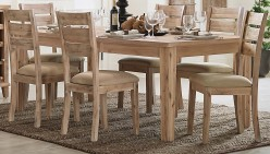 Homelegance Colmar Light Burnished Oak Dining Table Available Online in Dallas Fort Worth Texas