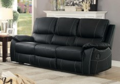 Homelegance Greeley Black Double Reclining Sofa Available Online in Dallas Fort Worth Texas