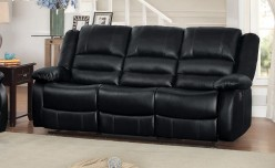 Homelegance Jarita Black Double Reclining Sofa Available Online in Dallas Fort Worth Texas