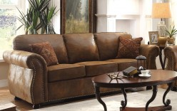 Homelegance Corvallis Brown Sofa Available Online in Dallas Fort Worth Texas