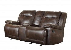 Homelegance Wasola Dark Brown Double Glider Reclining Loveseat Available Online in Dallas Fort Worth Texas