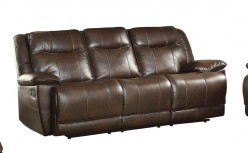Homelegance Wasola Dark Brown Triple Reclining Sofa Available Online in Dallas Fort Worth Texas