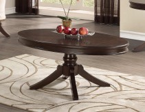 Homelegance Marston Dark Cherry Oval Coffee Table Available Online in Dallas Fort Worth Texas