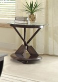 Homelegance Hatchett Lake Brown Cherry End Table Available Online in Dallas Fort Worth Texas