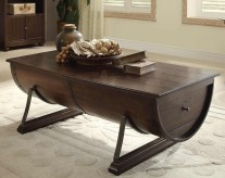 Homelegance Hatchett Lake Brown Cherry Coffee Table Available Online in Dallas Fort Worth Texas
