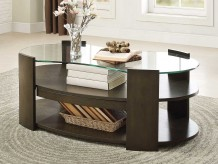 Homelegance Sicily Coffee Table With Glass Top Available Online in Dallas Fort Worth Texas