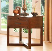 Homelegance Capitan Cherry End Table Available Online in Dallas Fort Worth Texas