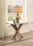 Homelegance Luella Weathered Oak End Table Available Online in Dallas Fort Worth Texas