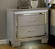 Bellanova Silver Night Stand Available Online in Dallas Fort Worth Texas
