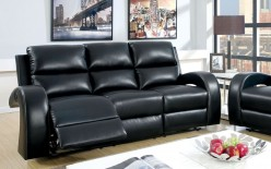 FOA Furniture Of America Odette Black Sofa Available Online in Dallas Fort Worth Texas