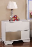 Coaster Havering Blanco/Sterling Nightstand Available Online in Dallas Fort Worth Texas