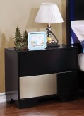 Coaster Havering Black/Sterling Nightstand Available Online in Dallas Fort Worth Texas
