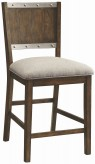 Coaster Beckett Dark Oak Upholstered Chair Available Online in Dallas Fort Worth Texas