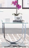 Coaster Yamaan Chrome End Table Available Online in Dallas Fort Worth Texas