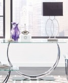 Coaster Yamaan Chrome Sofa Table Available Online in Dallas Fort Worth Texas