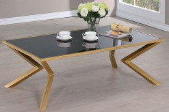 Coaster Salu Brushed Brass Coffee Table Available Online in Dallas Fort Worth Texas