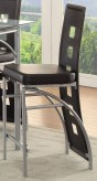 Coaster Los Feliz Black & Chrome Counter Height Chair Available Online in Dallas Fort Worth Texas