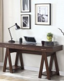 Coaster Henson Dark Walnut Writing Desk with Sawhorse Leg Available Online in Dallas Fort Worth Texas