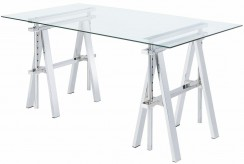 Skylar Adjustable Chrome Writing Desk Available Online in Dallas Fort Worth Texas
