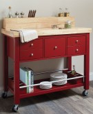 Coaster Kitchen Carts Red Kitch... Available Online in Dallas Fort Worth Texas