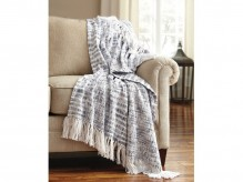 Ashley Cassbab Blue Throw Available Online in Dallas Fort Worth Texas