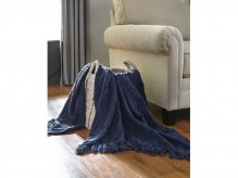 Noland Navy Throw Available Online in Dallas Fort Worth Texas