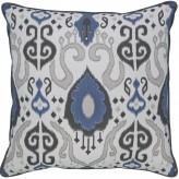Damaria Blue & White Pillow Available Online in Dallas Fort Worth Texas