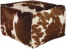 Ashley Tegan Dark Brown/White Pouf Available Online in Dallas Fort Worth Texas