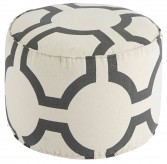 Geometric Charcoal Pouf Available Online in Dallas Fort Worth Texas