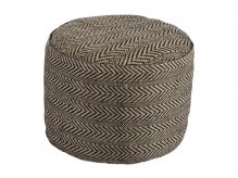 Chevron Natural Pouf Available Online in Dallas Fort Worth Texas